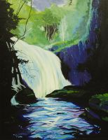 Waterfall Painting by b-inky