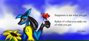 Lucy: Happiness by Snowfyre