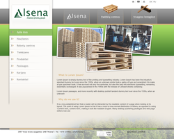 Web design for Pallets company by dzbugy