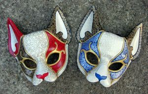 Venetian Cat Masks by merimask