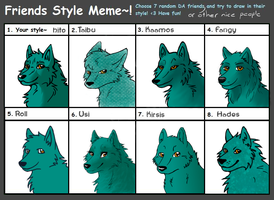 Friends Style Meme by hitodama89
