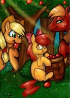 Apple Family Values by reaperfox