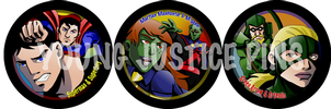 Young Justice Pins set 2 by EvilFuzz