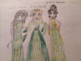 Renee, Emily, and Olivia by Amphitrite7