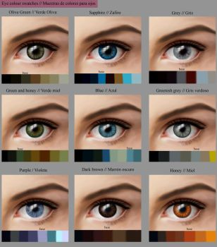 Eye colour swatches by MarinaSchiffer