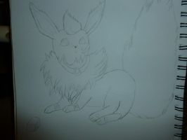 Rod laying down(sketch) by RodTheDuskFlareon