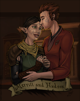 Hawke and Merrill by ladyofdragons