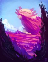 The Great Axolotl by Kuthinks