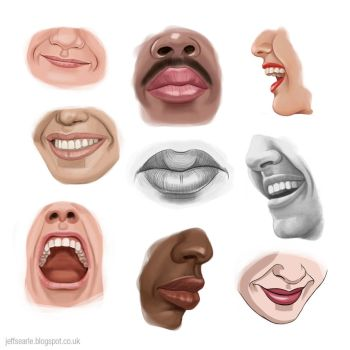 Mouth studies by JeffSearle