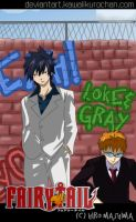 FAIRY TAIL: Gray and Loke by KawaiiKurochan