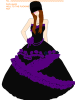 Gabby In A Prom Dress by Sh4meless