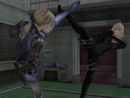 Lightning vs Jill Valentine by Dante-564