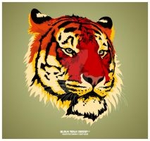 Syber Tyger Face Vector by KawaiiUniverseStudio