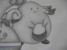Chansey Drawing by sazmullium
