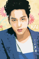 My second vector pop art of Exok Kai by KpopGurl