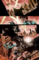 Batman and NightWing colors by westwolf270
