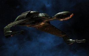 Klingon Bird-of-Prey Retro B'Rel Class wallpaper 1 by Drzu
