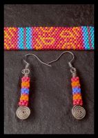 Beryline's Choker and Earrings by copper9lives