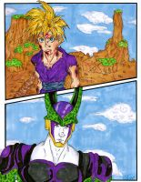 DBZ: Gohan v.s. Cell by Goofatron