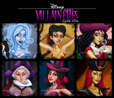 Disney Villainettes, Cycle One by blastedgoose