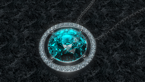 Sky Diamond Necklace by Serrawolfe