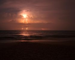 Offshore Thunderstorm by flatsix911