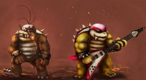 Roy and Morton Koopa Jr. Rocks by TheLandoBros