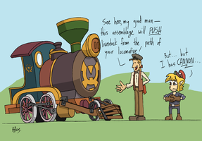 Spirit Tracks: lost puns by Atticus-W