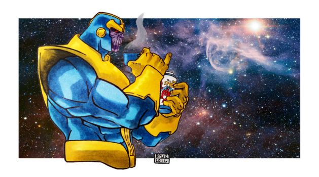 Thanos Thermos by jestersforce
