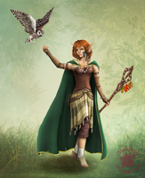 DnD: Elf Druid Gwileth by CrimsonskyR