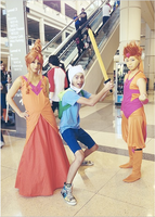 Adventure Time: Flame Kids and Finn the Human I by xXSnowFrostXx