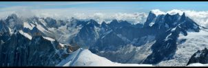 Mt. Blanc panorama by kimjorsing