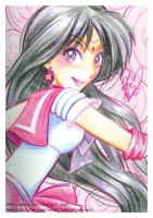 Crayola Crayon Sailor Mars by LemiaCrescent