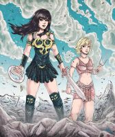 Xena And Gabrielle by baratsu