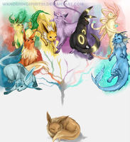 Eeveelutions by Bl0rp