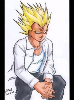 MAJIN VEGETA CHILL OUT by Sandra-delaIglesia