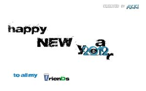 new year wallpaper 2012  for all my friends by akki604