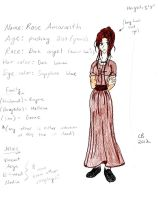 Character Reference: Rose Amaranth by KeeperOfCoffins