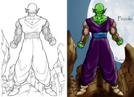Character Design: Piccolo by DorianDarko
