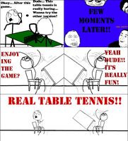 REAL TABLE TENNIS!! -Rage Comic- by Albowtross91