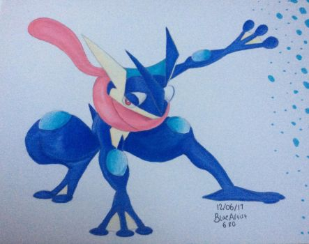 Greninja (Coloured) by BlueArtist680