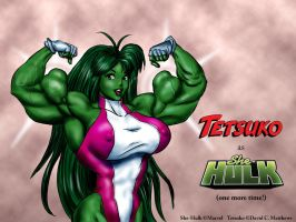"Tetsuko as ""She-Hulk"" again by DavidCMatthews"