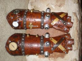 Steampunk Gauntlets by Shadowfox012