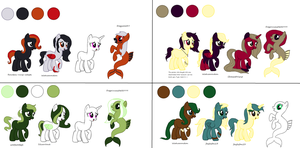 My Little Pony Palette Adoptables by vega37
