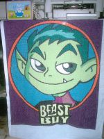 Beast Boy, Cross-Stitches by EeveeChan