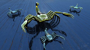 Scuttling Scorpions by Zethara