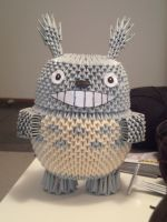 3D Origami Totoro by OneLoneTree