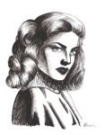 Lauren Bacall portrait by Blanca-lime