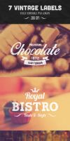 7 Vintage Labels Vol. 1 by PixelladyArt