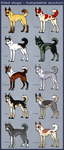 Sled Dogs - Adoptable Auction [closed] by CanisAlbus